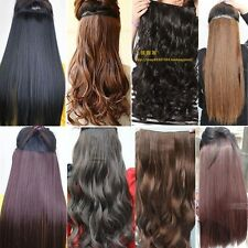 16 clips full head One Piece Hair Extensions Hairpieces Wavy/Curly Straight long