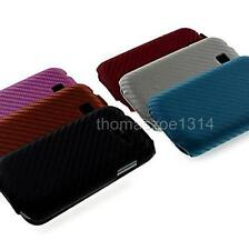 Carbon Fibre Leather Case Cover Pouch For Samsung Galaxy Fresh S7390 Duos S7392