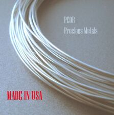 2 ft  Sterling .925 Silver 1/2 Round Wire, Dead Soft, 2 - 10 Gauge,  Made in USA