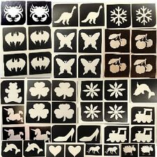 20 x mini stencils - choose from drop down menu  Top up ur glitter tattoo kit