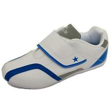 Men White Blue Comfort Velcro Gym Sports Trainers Casual Shoes Pumps Size 9-13