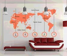 Large Size World Map wall stickers Decal Removable Art Vinyl Decor DIY Wallpaper