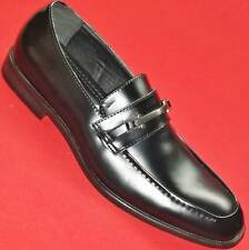 NEW Men's MARC ANTHONY CORTEZ Black Leather Loafers Slip On Casual/Dress Shoe