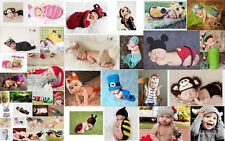 1x Baby Girls Boy Newborn-24Month Animal Knit Crochet Hat Cap Photo Prop Outfits