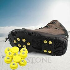 New Snow Ice Climbing Anti Slip Spikes Grips Crampon Cleats 10-Stud Shoes Cover