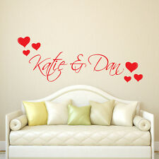 Valentine Personalised Love Hearts Wall Window Sticker Decal Transfer Decoration