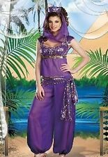 WOMENS FANCY DRESS BELLY DANCER JASMINE ALADDIN ARABIAN NIGHTS PRINCESS COSTUME