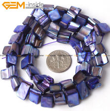 8-9mm freeform White blue green black brown plum shell jewelry making beads 15""