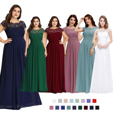 Women Bridesmaids Lace Long Maxi Evening Formal Party Dress Gown 09993 Size 8-20