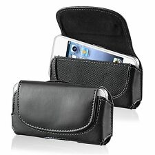 Deluxe Soft Flip Leather Case Cover Skin w/Clip For Cellphone Mobile Phone
