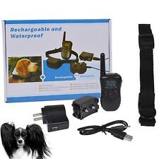 US/EU Waterproof Shock Vibrate LCD Remote Rechargeable Dog Training Collar JYHG
