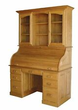 Amish Rolltop Desk Hutch Home Office Furniture Solid Wood Oak Maple Cherry New