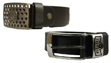 MENS BELT FAUX LEATHER IN BLACK COLOUR TWO DESIGNS **SPECIAL PRICE** £5.99