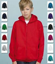 AWDis Kids Zoodie Hoody Hoodie Zip Through Hooded Sweatshirt Ages 5-13 New