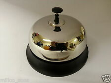 SILVER CHROME NICKEL PLATED BRASS RECEPTION BELL FOR COUNTER TOP HOTEL RESTURANT