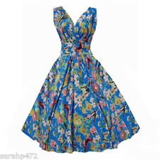 PRASLIN VINTAGE 50'S RETRO ROCKABILLY SWING DRESS SIZE 14 16 18 20 22 24 26 NEW