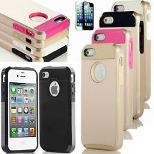 Gold/ Tan PC Shockproof Dirt Dust Proof Hard  Cover Case For iPhone 5 5S. 4 4s