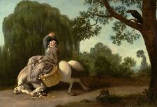 "George Stubbs : ""The Farmer's Wife & the Raven"" (1786) — Giclee Fine Art Print"
