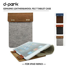 d-park Simple Style Leather Case For iPad mini 3 Protective Sleeve For 8' Tablet