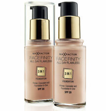 MAX FACTOR ALL DAY FLAWLESS FACEFINITY 3 IN 1 FOUNDATION, CHOOSE YOUR SHADE 30ml
