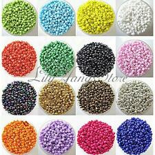 1200Pcs 2mm Multi Color Round Glass Beads Seed Czech Spacer Jewelry Pearls DIY