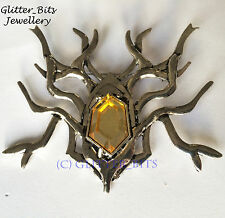 HOBBIT LORD OF THE RINGS THRANDUIL LARGE SPIDER BROOCH PIN BADGE ELVEN KING DOS