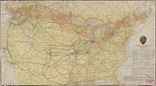 1912 HUGE CANADIAN PACIFIC RAILWAY MAP OF US & CANADA