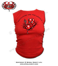 NEW SPIRAL DIRECT RED BOSSOM BUDDY BABY DEVIL GOTH TOP SHIRT SIZE S