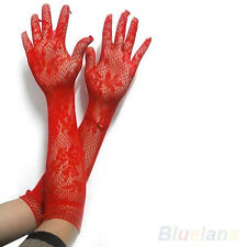 Women Sexy Stretch Lace Opear/Long Length Gloves - Black White Red 3 Colors BI4U