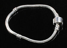 HOT 1Pcs Silver Plated Hollow Snake Chains Bracelet Fit European Charm Beads