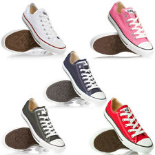 Mens, Womens Converse All Star Low Canvas Pumps Trainers Unisex Size