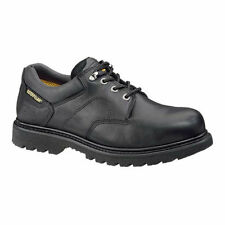 CAT Caterpillar Men Ridgemont Steel Toe Black Leather Work Shoe Non Slip P89703