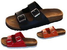 Ladies Shoes Catwalk Rip Black Red or Orange Twin Buckle Sandal Size 5-10 New