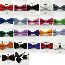 Womens/Mens Fashion Pre Tied Wedding Party Fancy Plain Necktie Tie Bow Ties