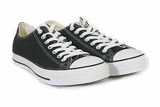 Converse Unisex All Star Ox Canvas Lace-Up Low Top Trainer Black / White M9166