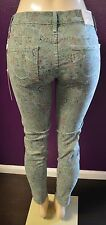 "True Religion Brand Jeans Women's Chrissy Super Skinny Green Paisley 29"" Inseam"