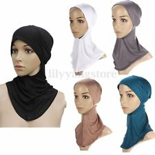 Under Scarf Hat Cap Bone Bonnet Hijab Islamic Head Wear Band Neck Chest Cover