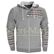 Mens Soulstar Rumex Quilted Side Aztec Print Patch Hoody Hooded Top Mens Size