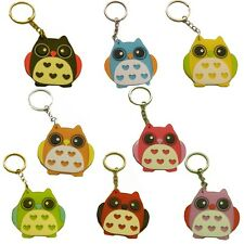 Keychain Mirror Cute Compact Travel Pocket Mirror Great Colors Cute Owl Design!