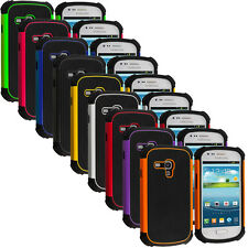 For Samsung Galaxy S3 Mini Hybrid Rugged Matte Hard/Soft Shockproof Case Cover