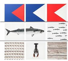 New IKEA PJATTERYD Picture Poster Print Canvas Nautical Lobster motifs 3 pack