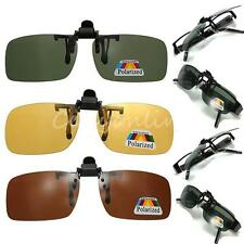 Polarized Night Vision Clip on Flip up Lens Sunglasses Driving Glasses 3 Color