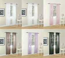 """Euphoria Solid Voile Sheer Window Curtain Valance Panel 6 Colors 4 Sizes 60""""W"""