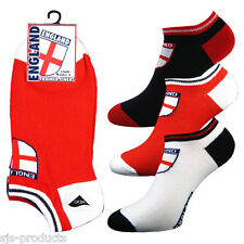3 OR 6 PAIRS OF ENGLAND MENS TRAINER SOCKS/LINERS SPORTS COTTON SIZE 6 TO 11