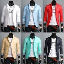 2015 New Fashion Mens Slim Fit Stylish Casual One Button Suit Coat Jacket Blazer