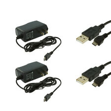 2X Wall Travel Home Charger + 2X Micro USB Data Cable Accessory for Cell Phones
