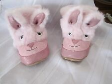 ROBEEZ Baby Girl Shoes Soft Soled Sole Easter Holiday 3D Bunny Bootie Boot Pink