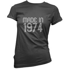 Made In 1974 - Womens 40th Birthday Present / Gift T-Shirt - 11 Colours