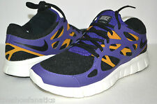 NEW WOMENS NIKE FREE RUN+ 2 EXT RUNNING WALKING SHOES PURPLE GOLD SAIL BLACK