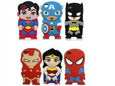 3D Comics Super Heroes Soft Silicone Case For Apple iPhone 5 5G 5S + 2 film